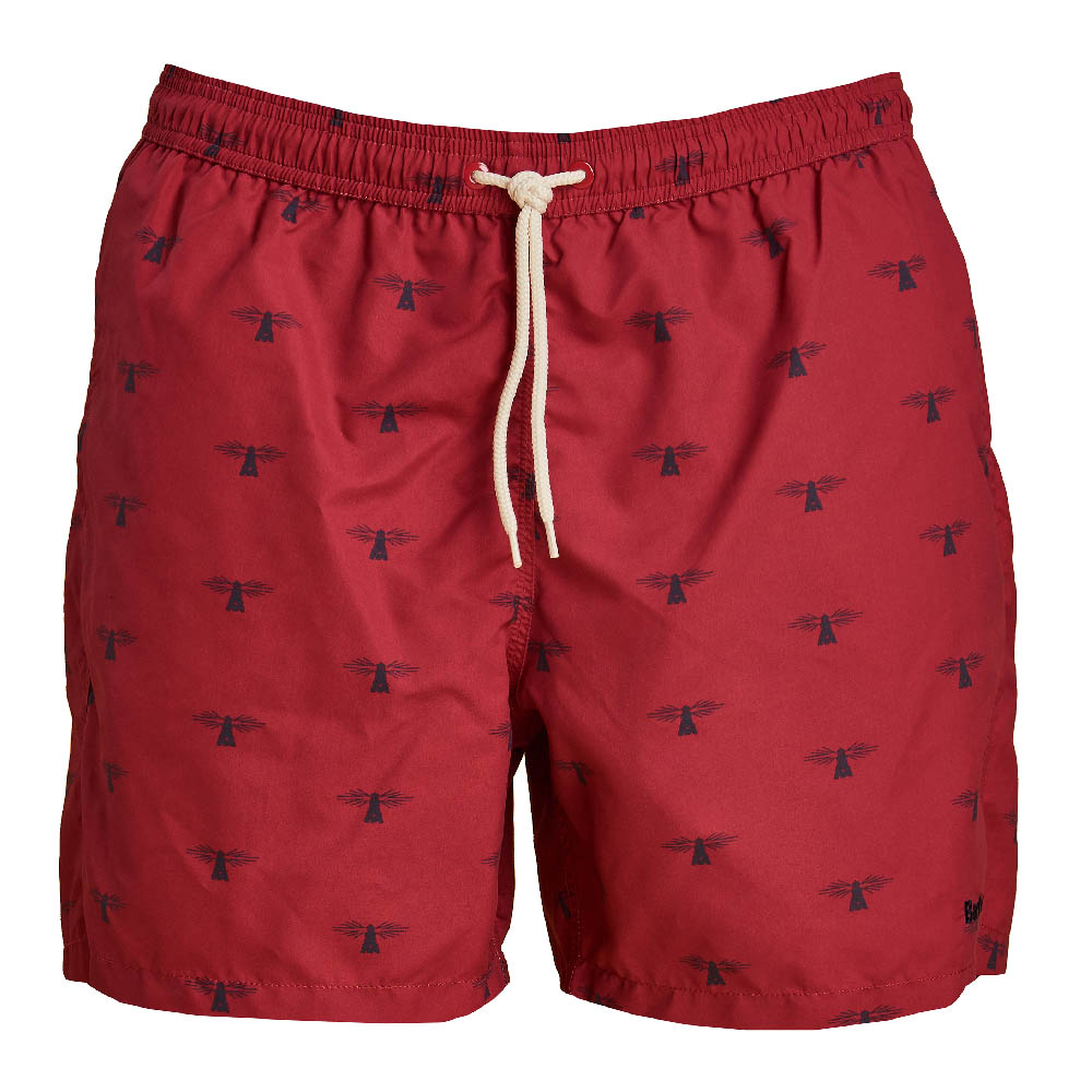 Barbour Coastal Swim Shorts Red FIT: Regular