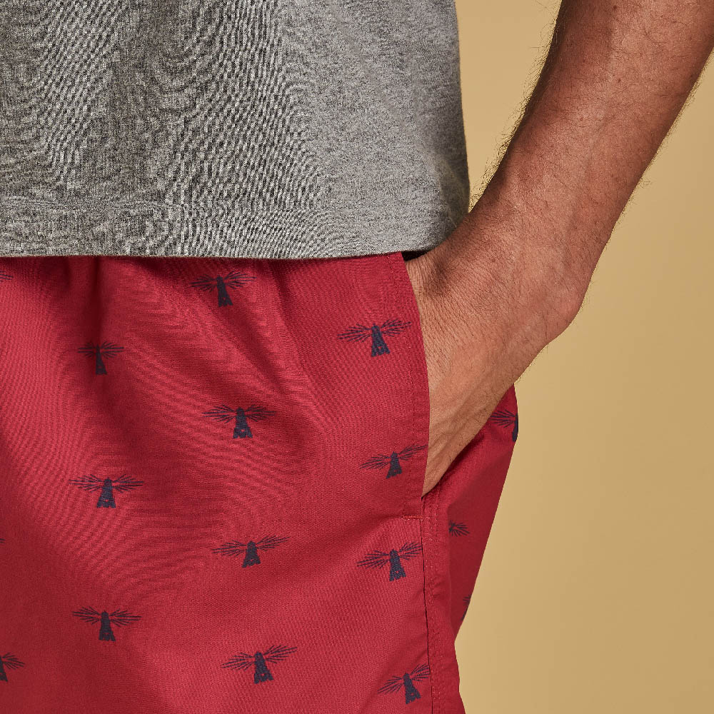 Barbour Lobster Swim Shorts Red