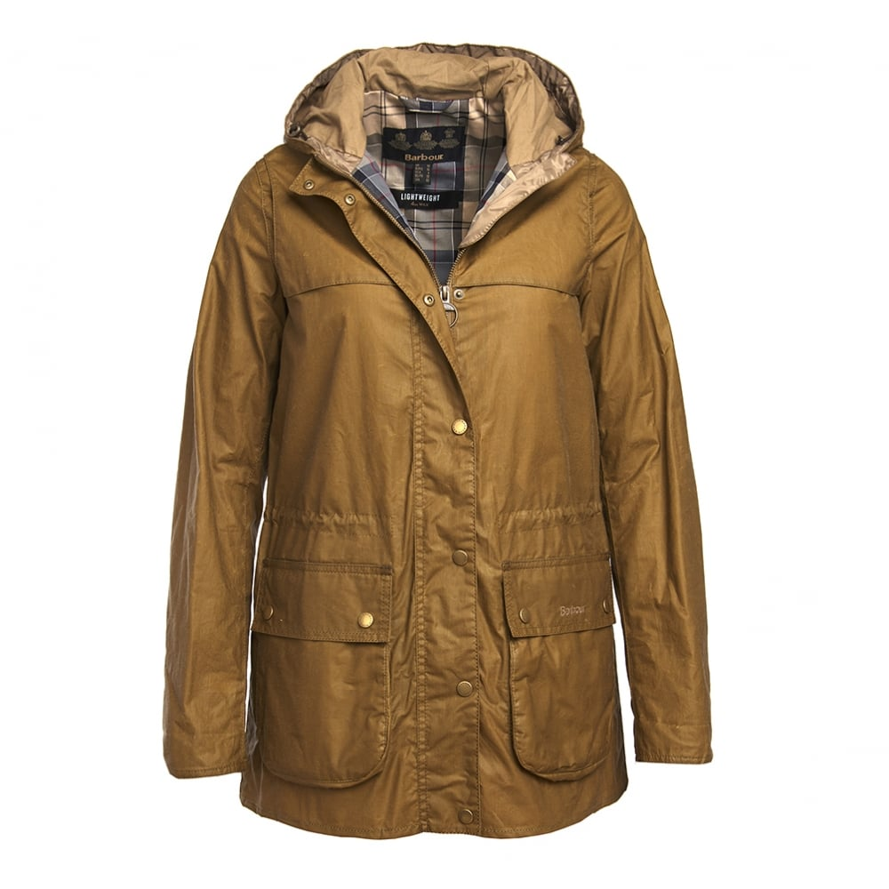 Barbour Lightweight Durham Waxed Cotton Jacket Sandstone Regular Fit