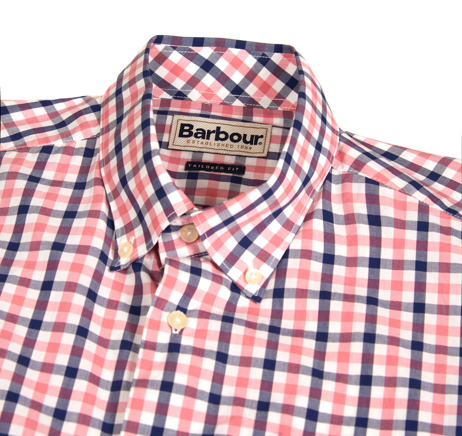 Barbour Bruce Tailored Fit Shirt Piink