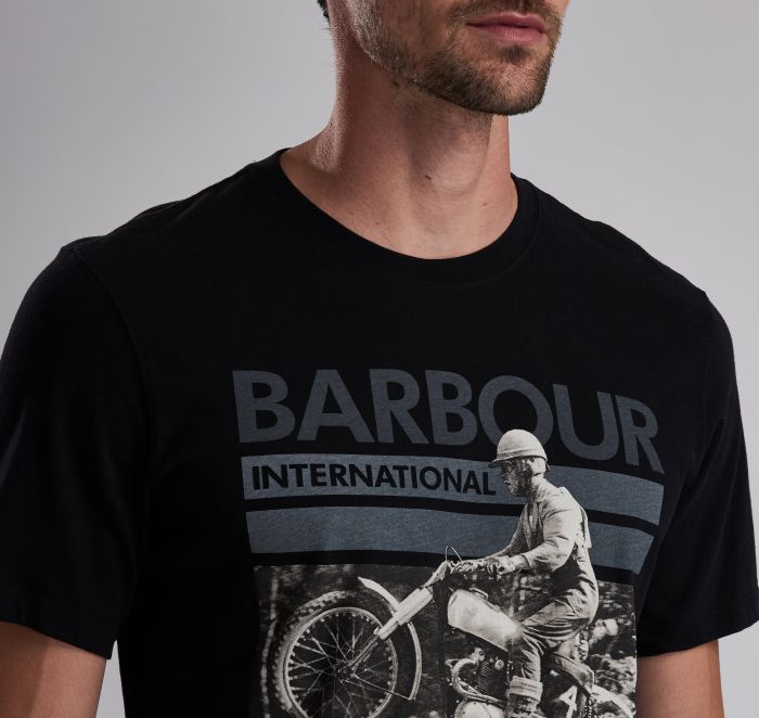 Barbour Archive Tee Black