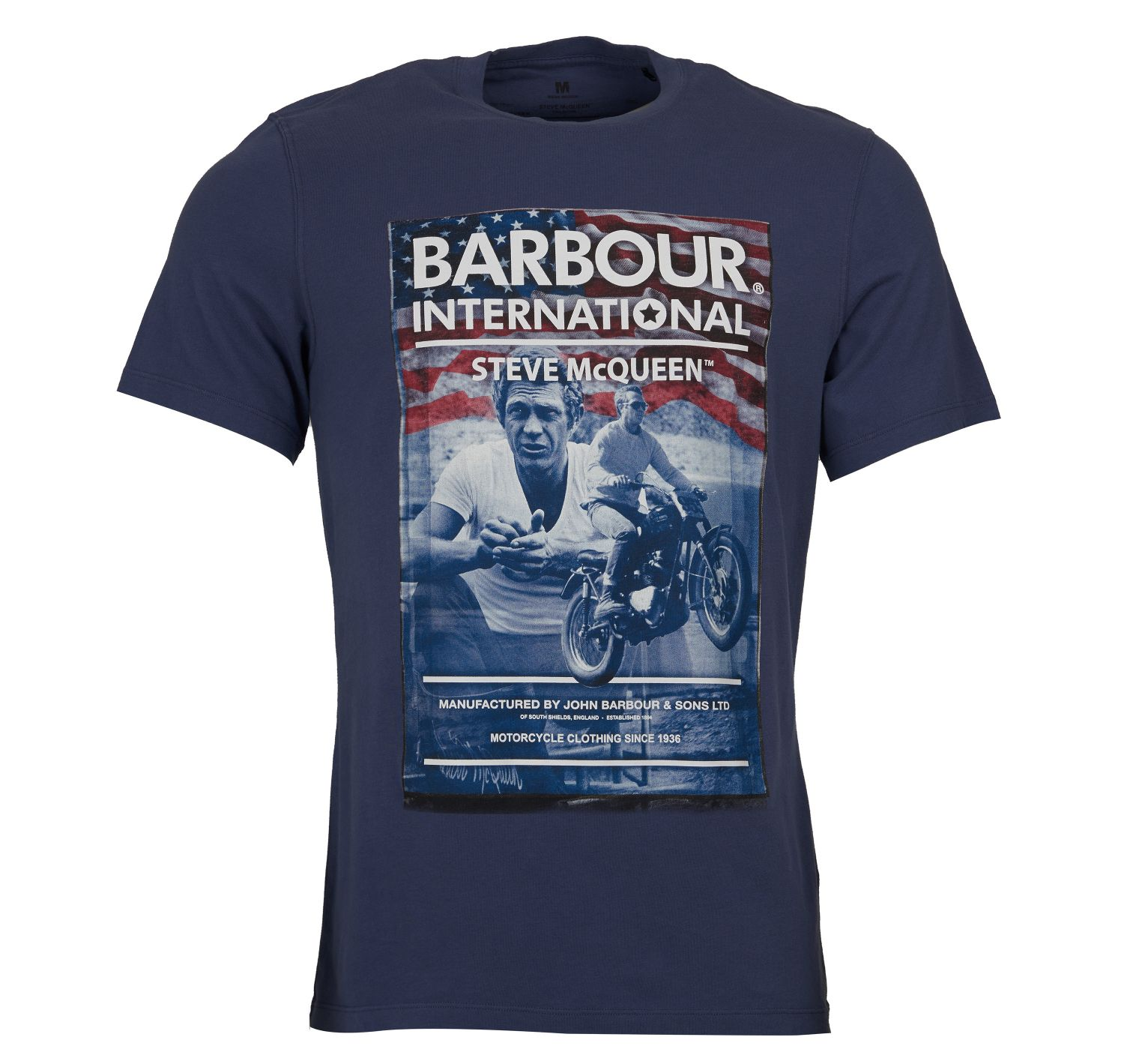 Barbour SMQ Hero Tee Shirt Indigo Barbour International From Steve McQueen Collection