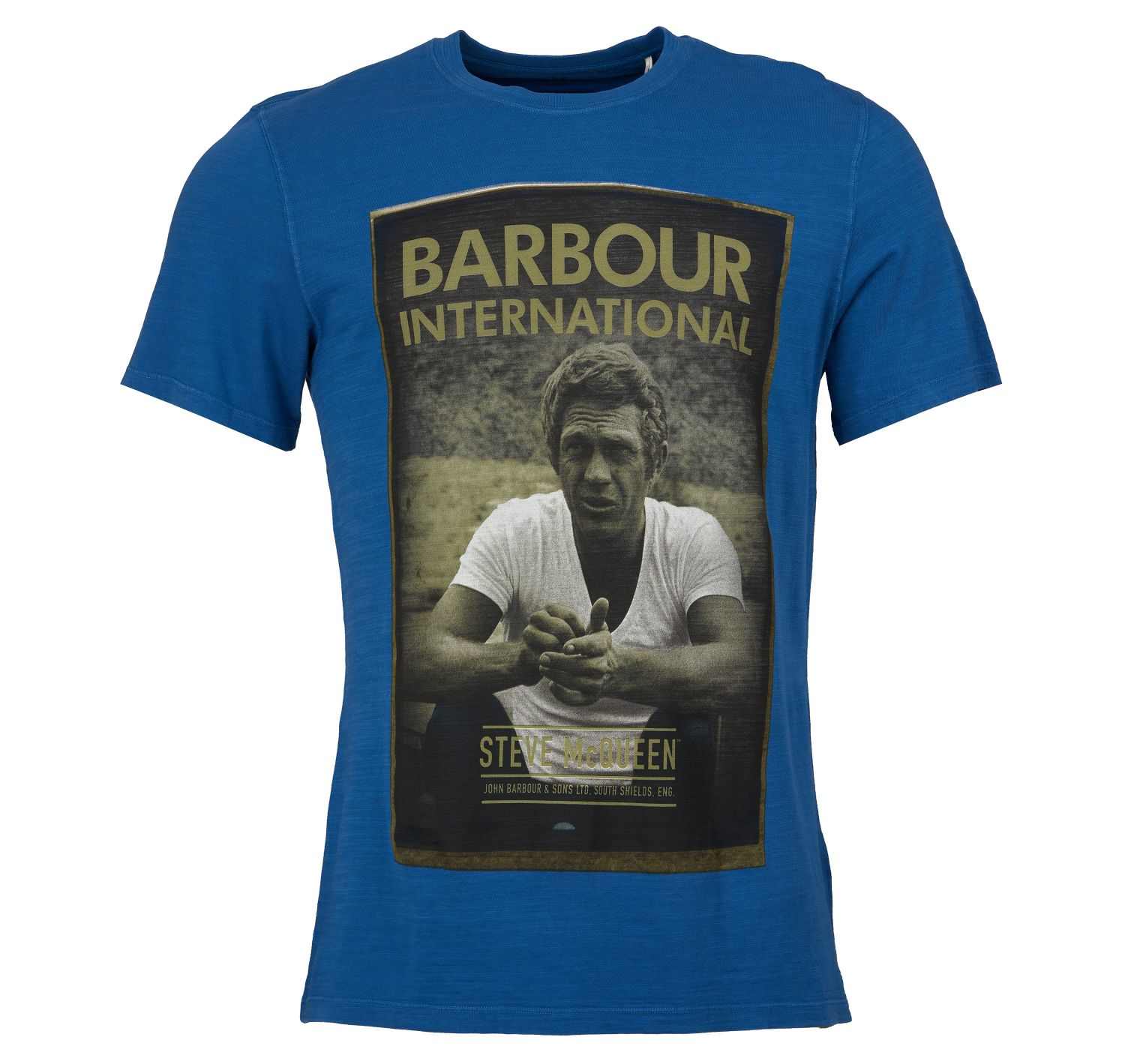 Barbour SMQ RelaxTee Shirt Blue Barbour International From Steve McQueen Collection