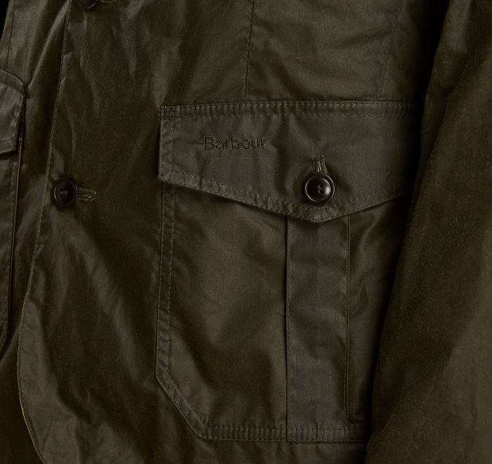 Barbour Lightweight Sander Waxed Cotton Jacket Olive