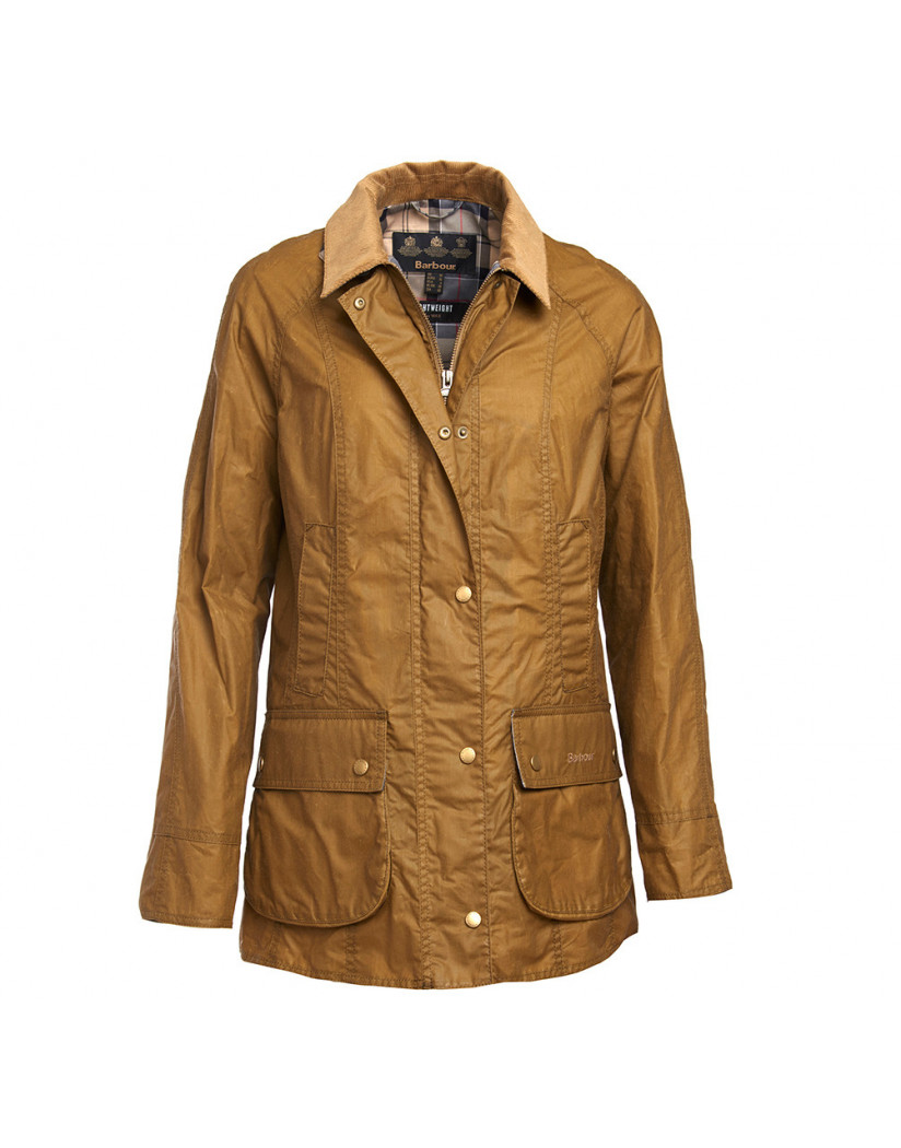 Barbour Lightweight Beadnell Wax Jacket Sandstone Regular Fit