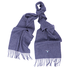 Barbour Barbour Plain Lambswool Scarf Sapphire Barbour Lifestyle: from the Classic capsule