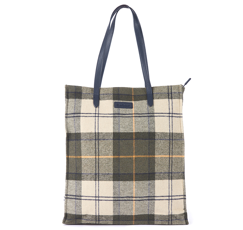 Barbour Barbour Tain Tartan Shopper Bag Ancient