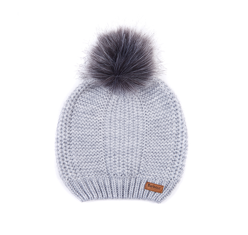 Barbour BurnePom Beanie Grey