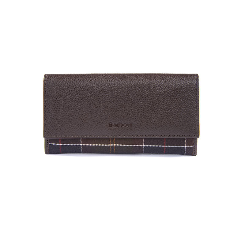 Barbour Leather Convertible Wallet Dk