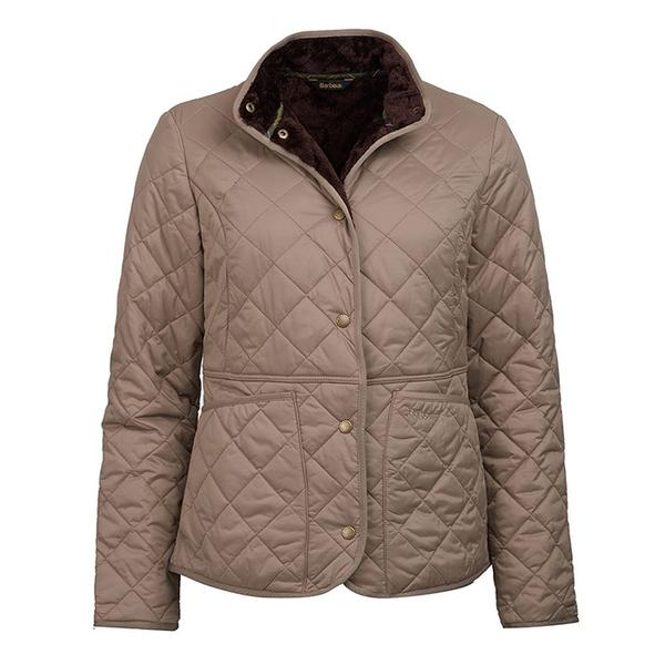 Barbour Jasmine Quilted Jacket Taupe FIT: Regular