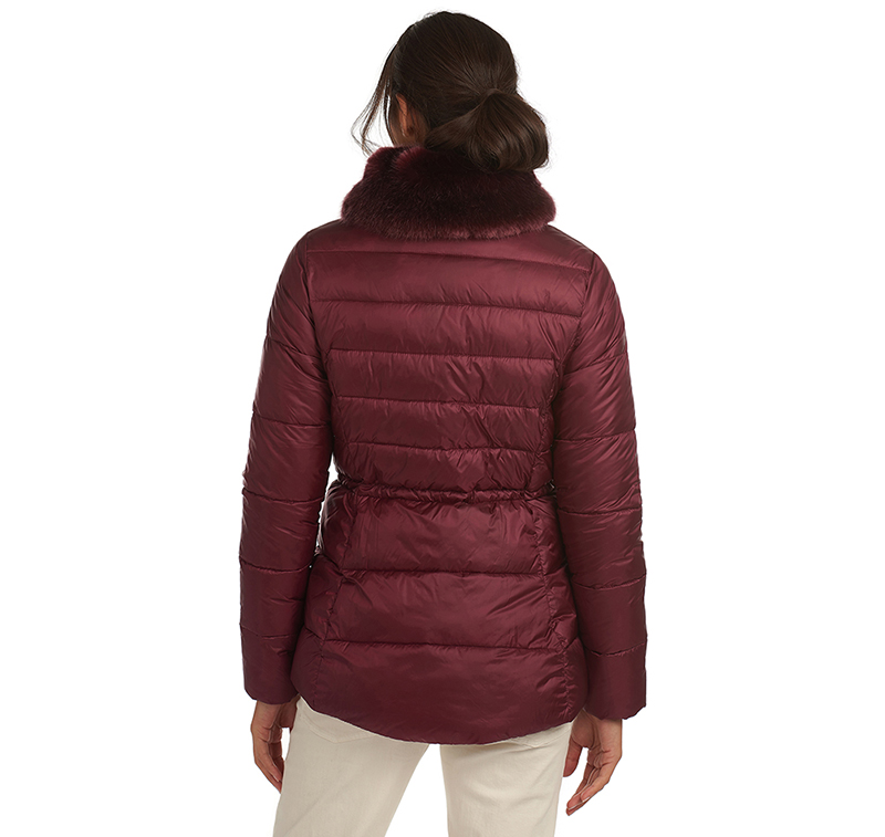 Barbour Angus Quilted Jacket Garnet