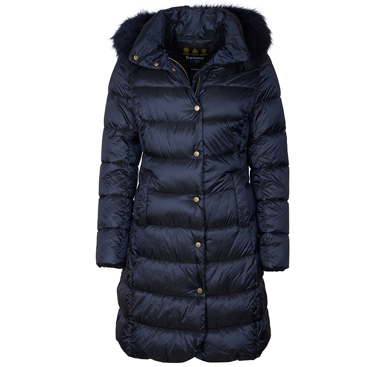 Barbour Earn Quilted Jacket Navy