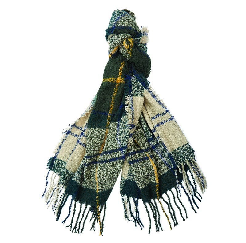 Barbour Barbour Tartan Boucle Scarf Winter Ancient Barbour Lifestyle: From the Winter Tartan collection