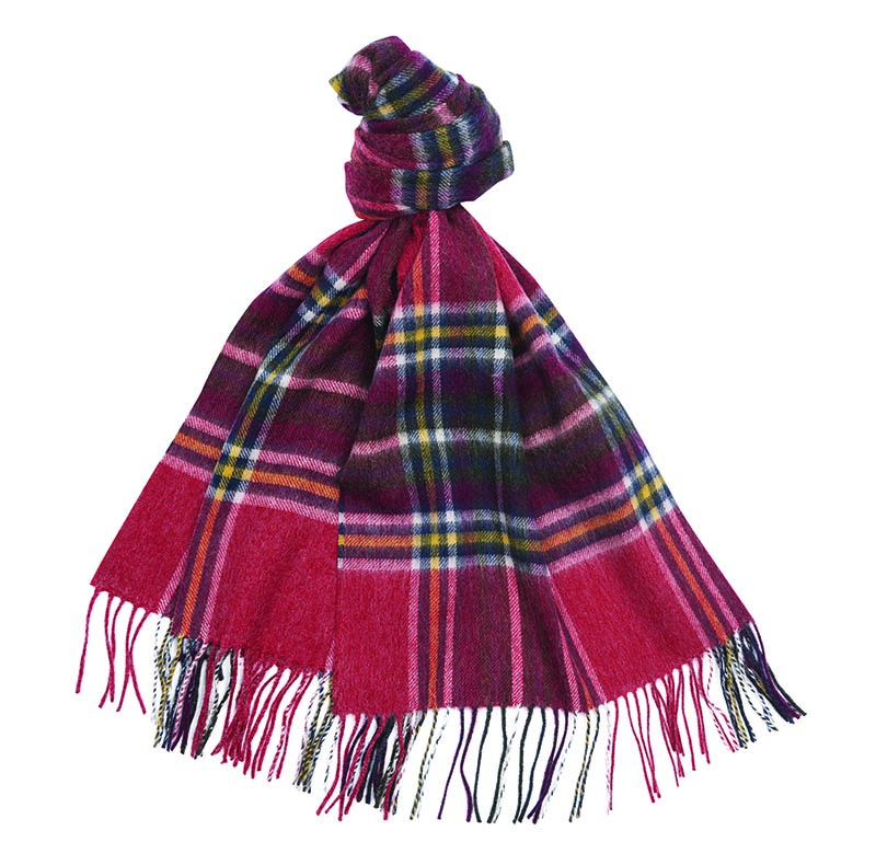 Barbour Lonnen Check Scarf Red