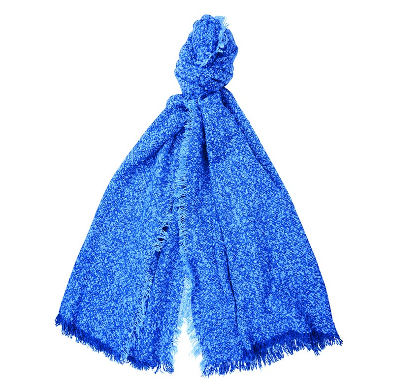 Barbour Megan Boucle Wrap Blue Barbour Lifestyle: From the Winter Tartan collection