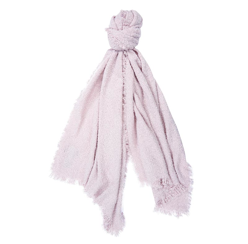 Barbour Isla Tartan Boucle Scarf Pink Barbour Lifestyle: From the Winter Tartan collection