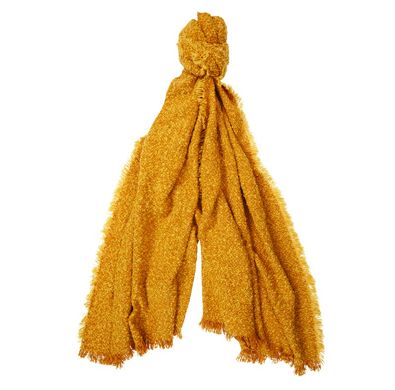 Barbour Megan Boucle Wrap Yellow Barbour Lifestyle: From the Winter Tartan collection