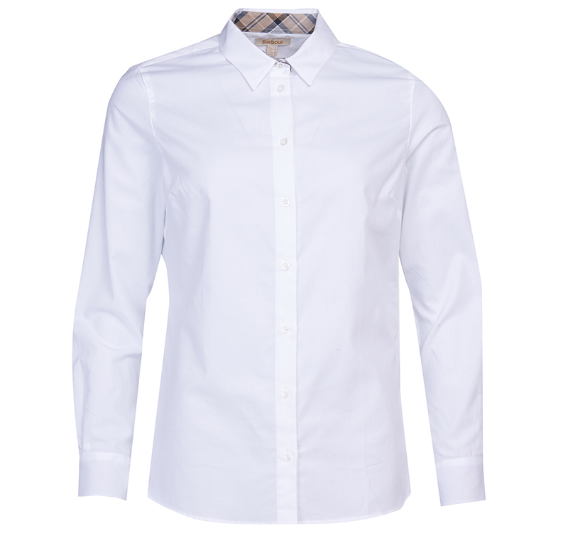 Barbour Barbour Derwent Shirt White Relaxed Fit