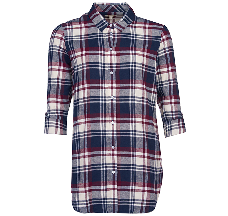 Barbour Windbound Shirt Purple Relaxed Fit