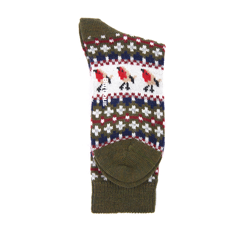 Barbour Barbour Robin Fairisle Socks Olive