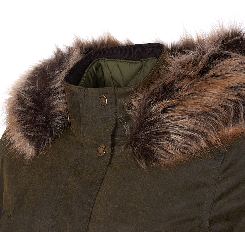 Barbour Homeswood Waxed Cotton Olive