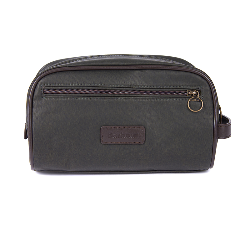 Barbour Wax Hanging Washbag Olive