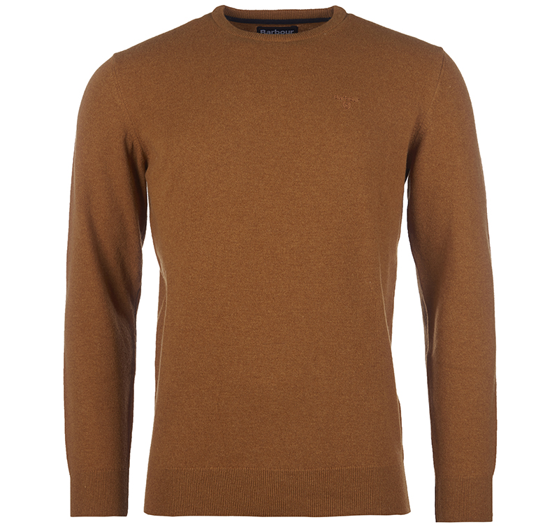Barbour Essential Lambswool Crew Sweater Orange Barbour Lifestyle: from the Classic capsule