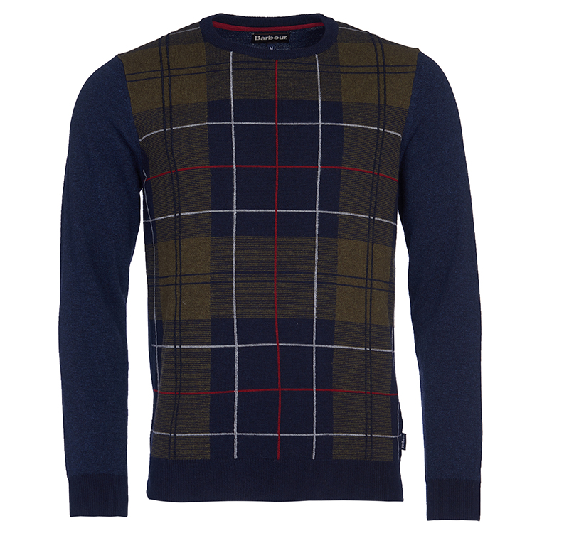 Barbour Coldwater Crew Neck Sweater navy Barbour Lifestyle: from the Classic capsule