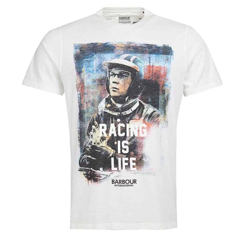 B.Intl Steve McQueen™ Racing is Life White Barbour Steve Mc Queen Capsule