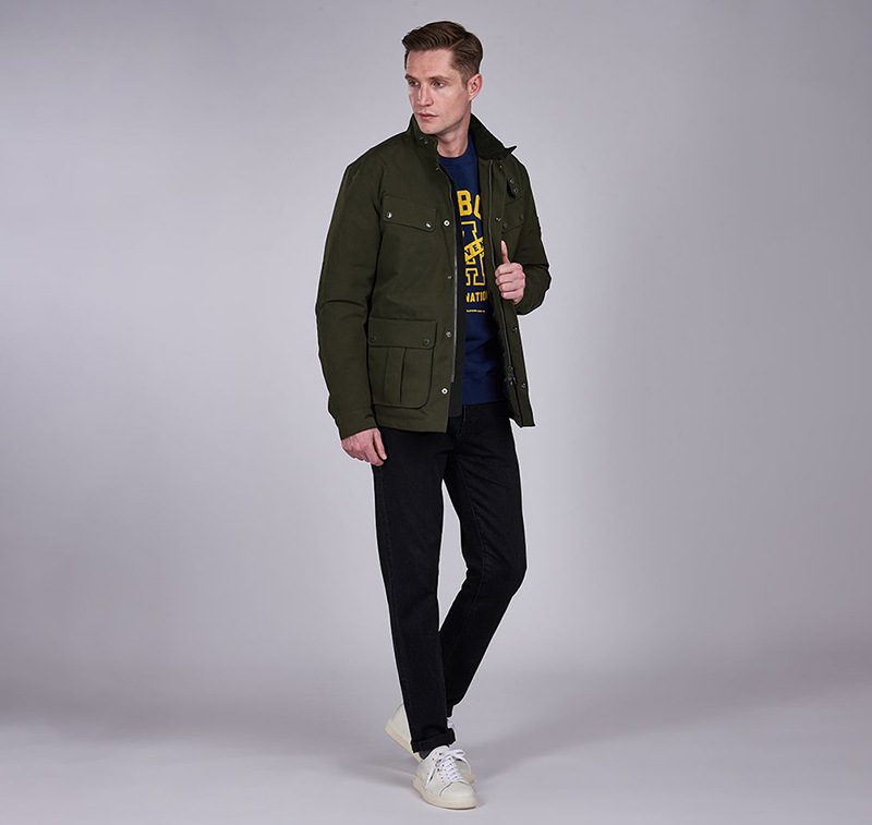 B.Intl Waterproof Duke Jacket Sage