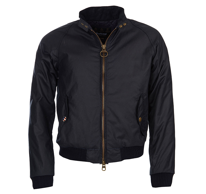 Barbour Barbour Merchant Waxed Jacket Navy Barbour International: from the Steve McQueen capsule