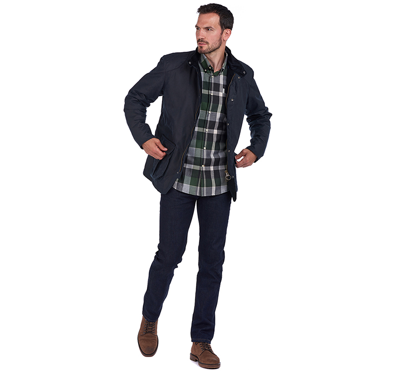 Barbour Gilpin Waxed Cotton Jacket Navy