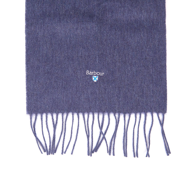 Barbour Plain Lambswool Scarf Sapphire
