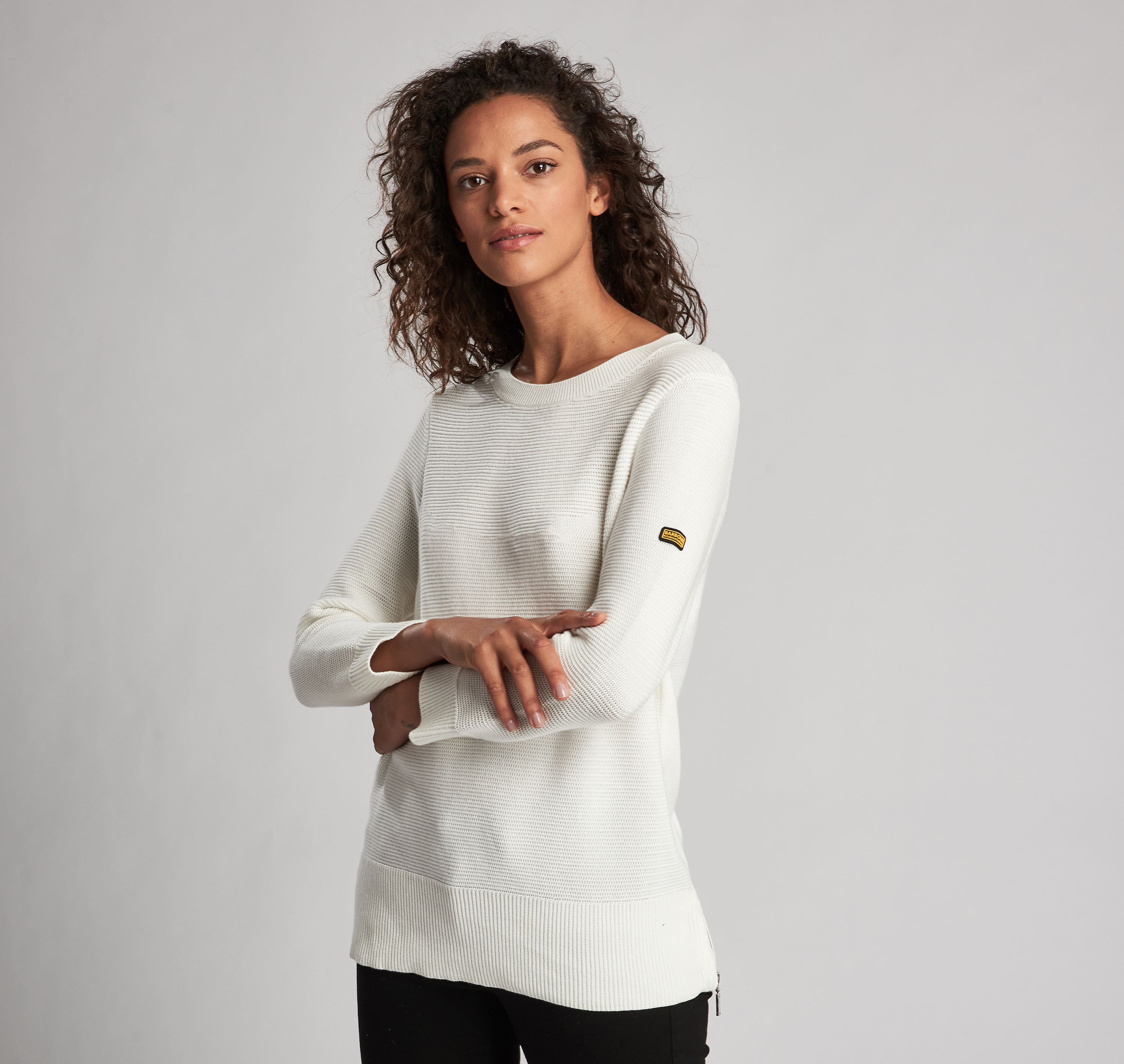 Barbour Apex Knit Sweater Off White