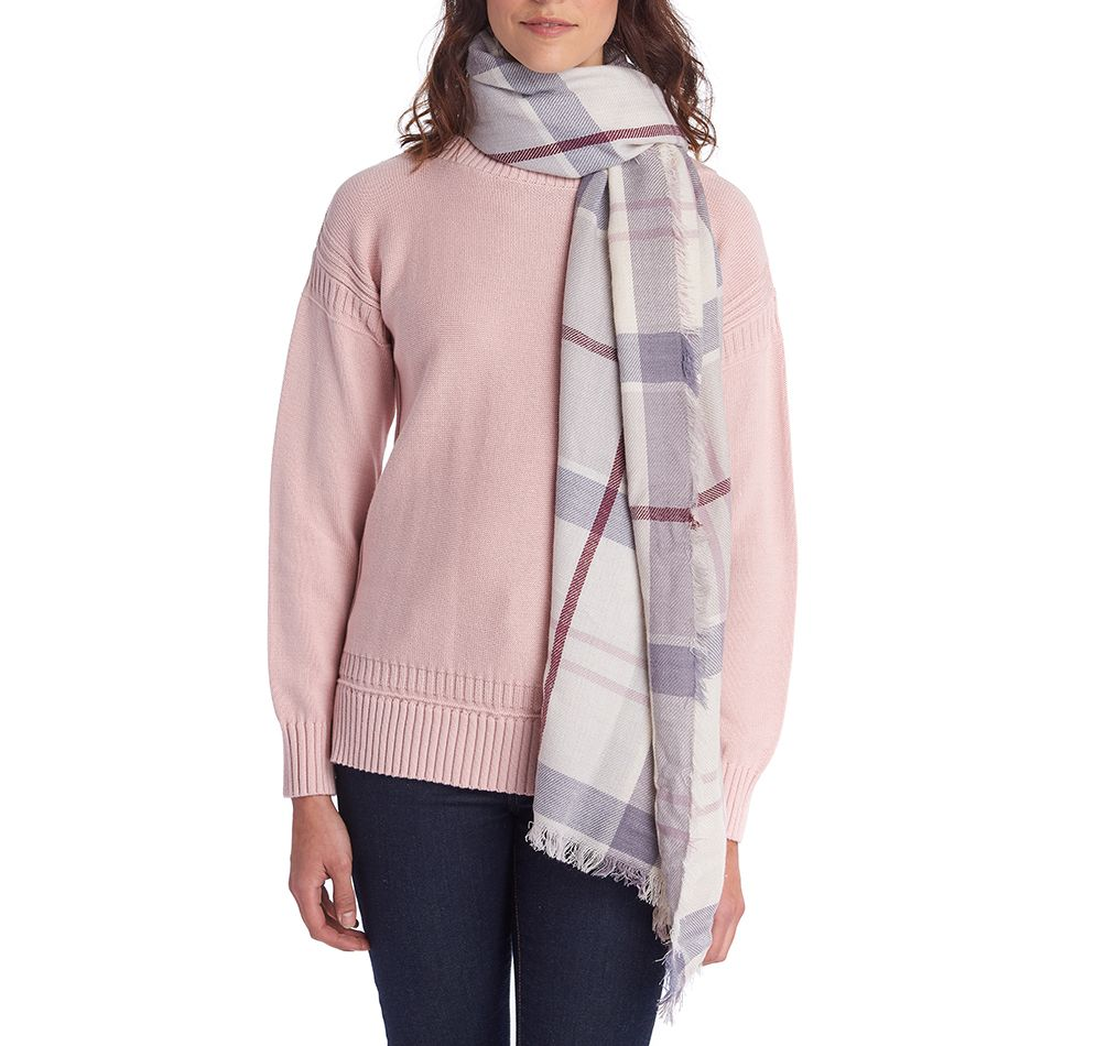 Barbour Freya Wrap Platinum