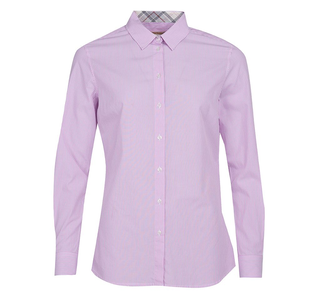 Barbour Barbour Dorset Shirt Pink Regular Fit