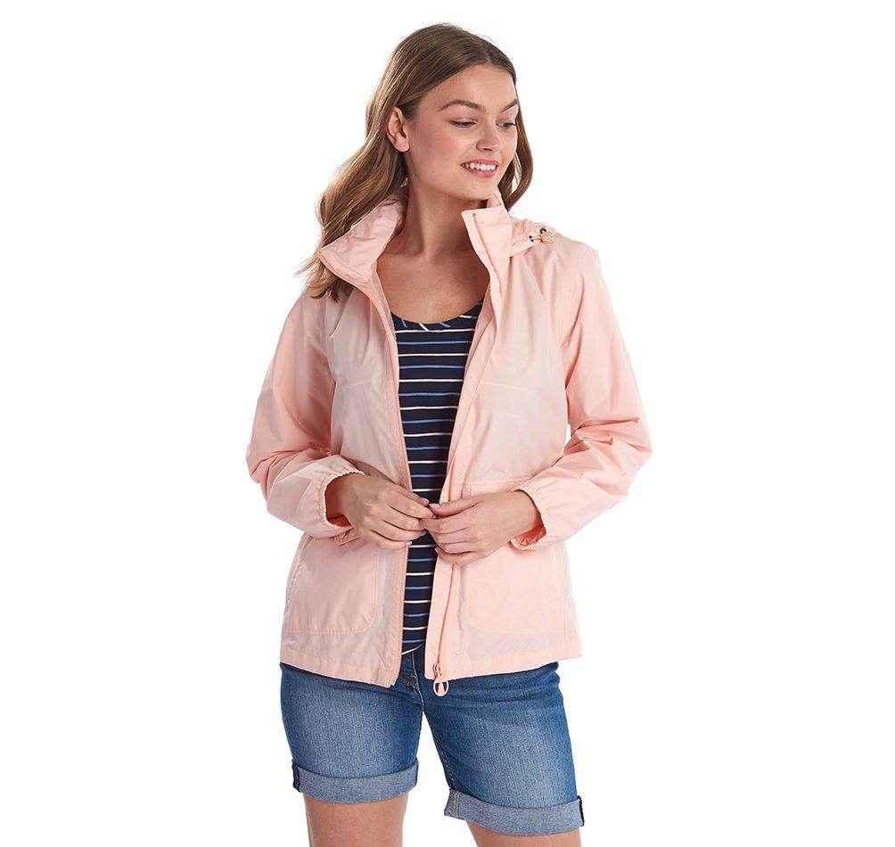 Barbour Overland Waterproof Jacket Pale Coral Barbour Lifestyle: From the Classic collection
