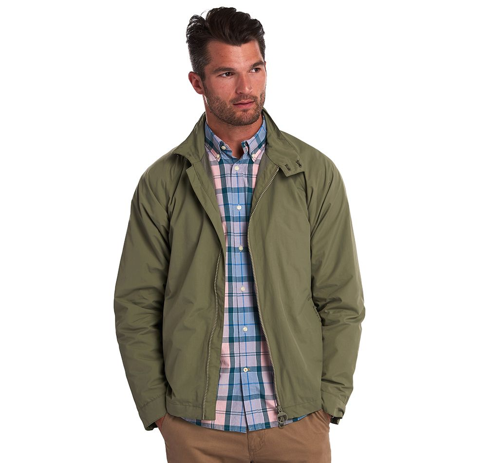 Barbour Donkin Casual Jacket Moss Tailored Fit