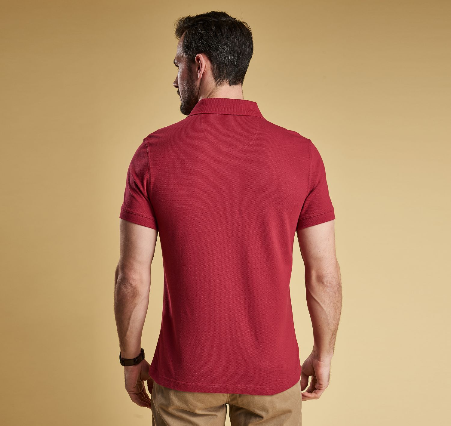 Barbour Sports Polo Shirt Raspberry