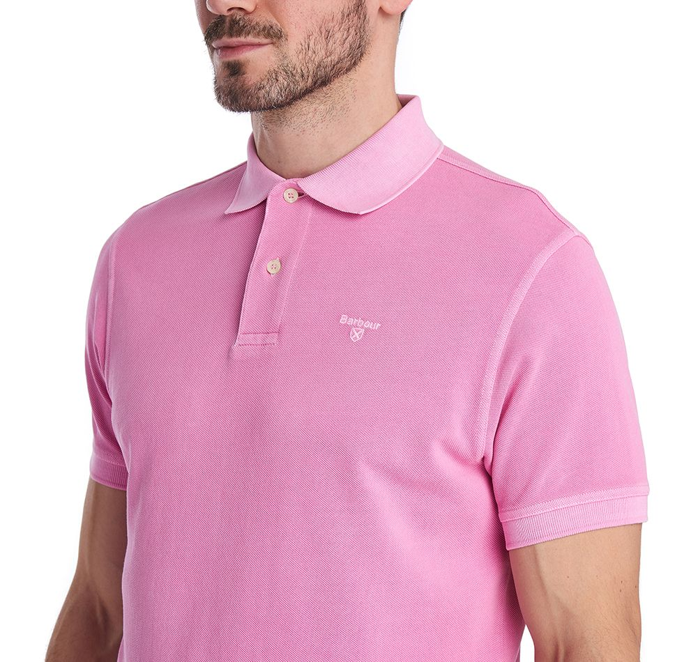 Barbour Washed Sports Polo Shirt Mauve
