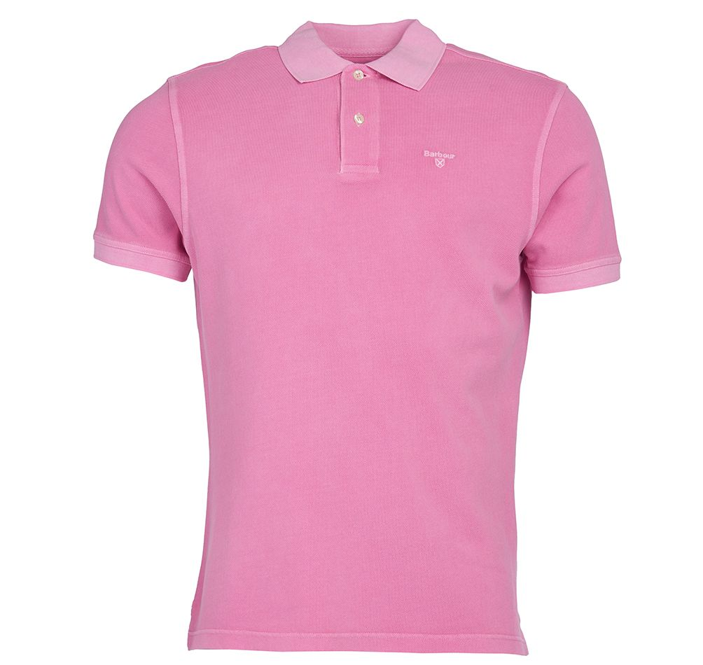 Barbour Washed Sports Polo Shirt Mauve Barbour Lifestyle: From the Core Essentials collection