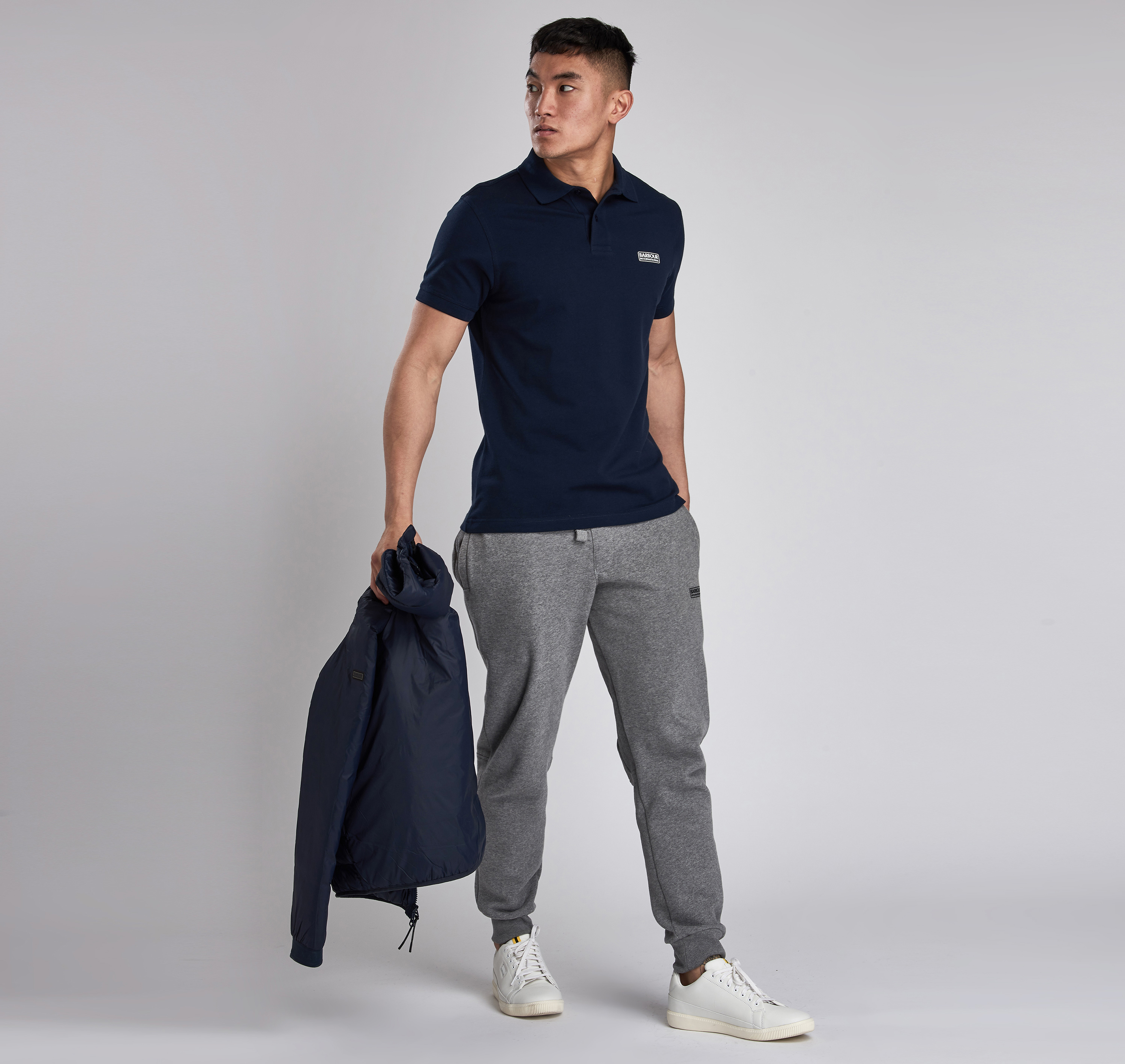 Barbour International Essential Polo Shirt Int Navy