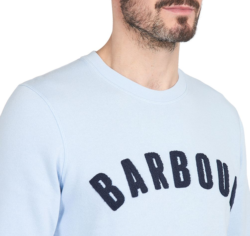 Barbour Prep Logo Crew Neck Sweater H Blue Barbour Lifestyle