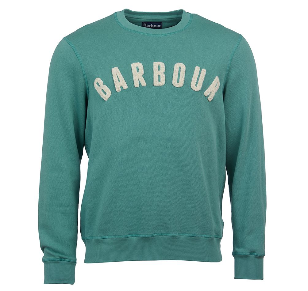 Barbour Prep Logo Crew Neck Sweater Green Barbour Lifestyle