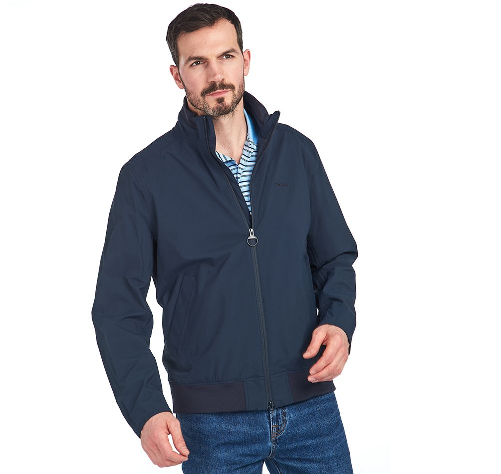 Barbour Leyburn Waterproof Jacket Navy FIT: Tailored