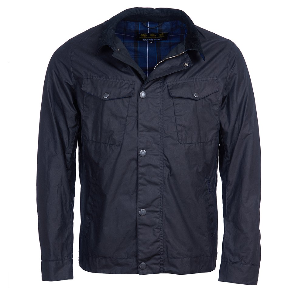 Barbour Trello Waxed Cotton Jacket Navy