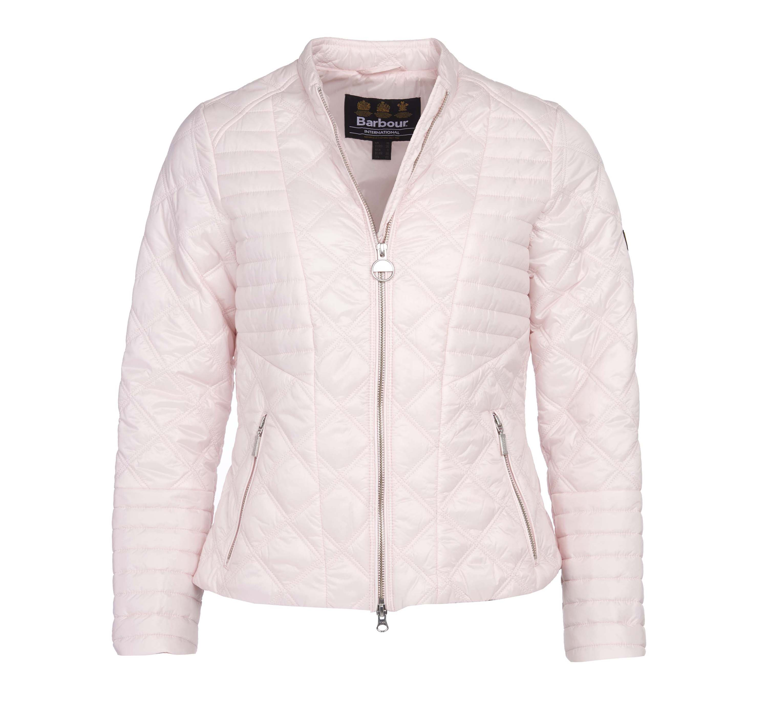 Barbour Intl. Freethrow Quilted Jacket Pink Barbour International: Slim Fit