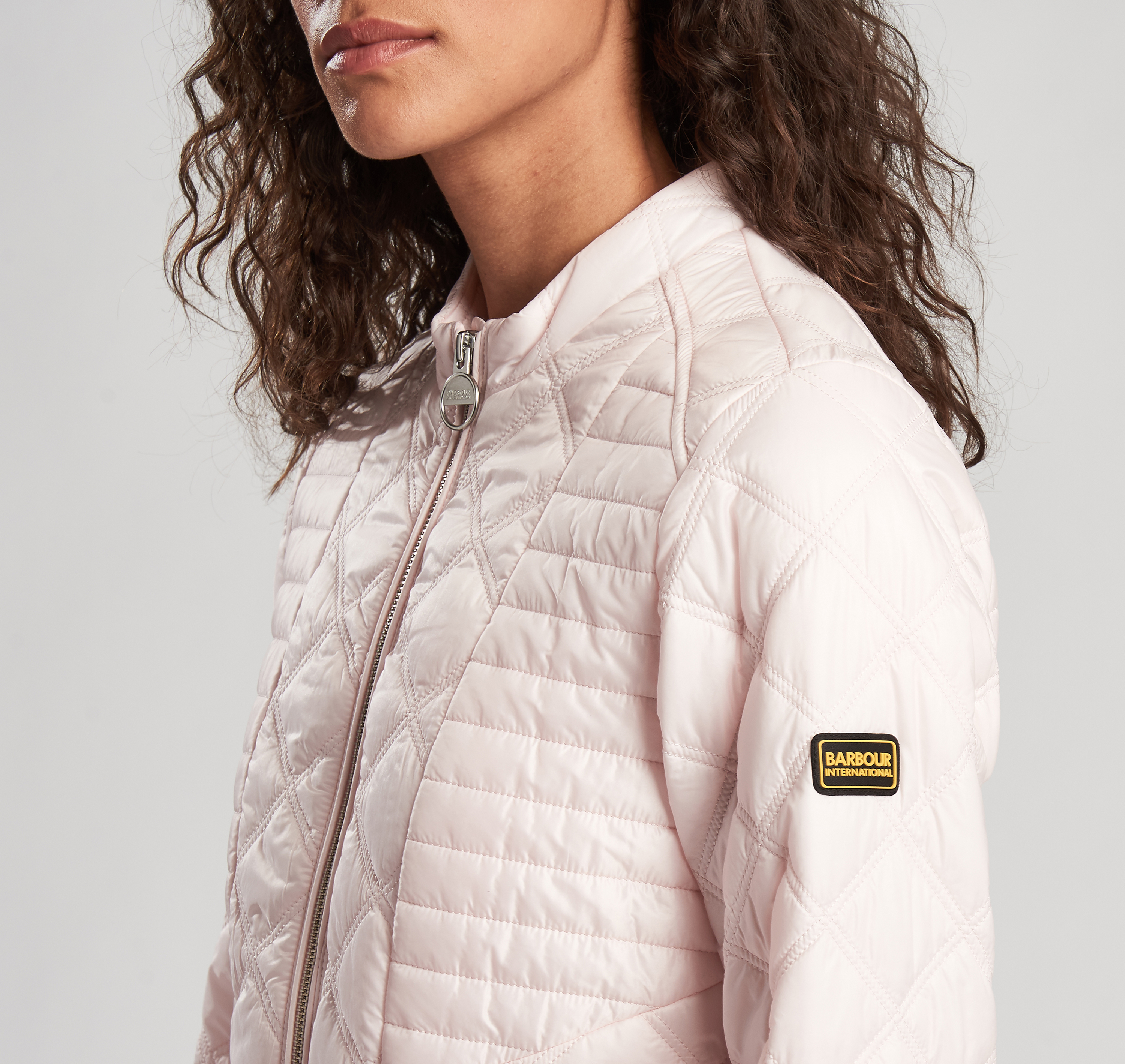 Barbour Intl. Freethrow Quilted Jacket Pink