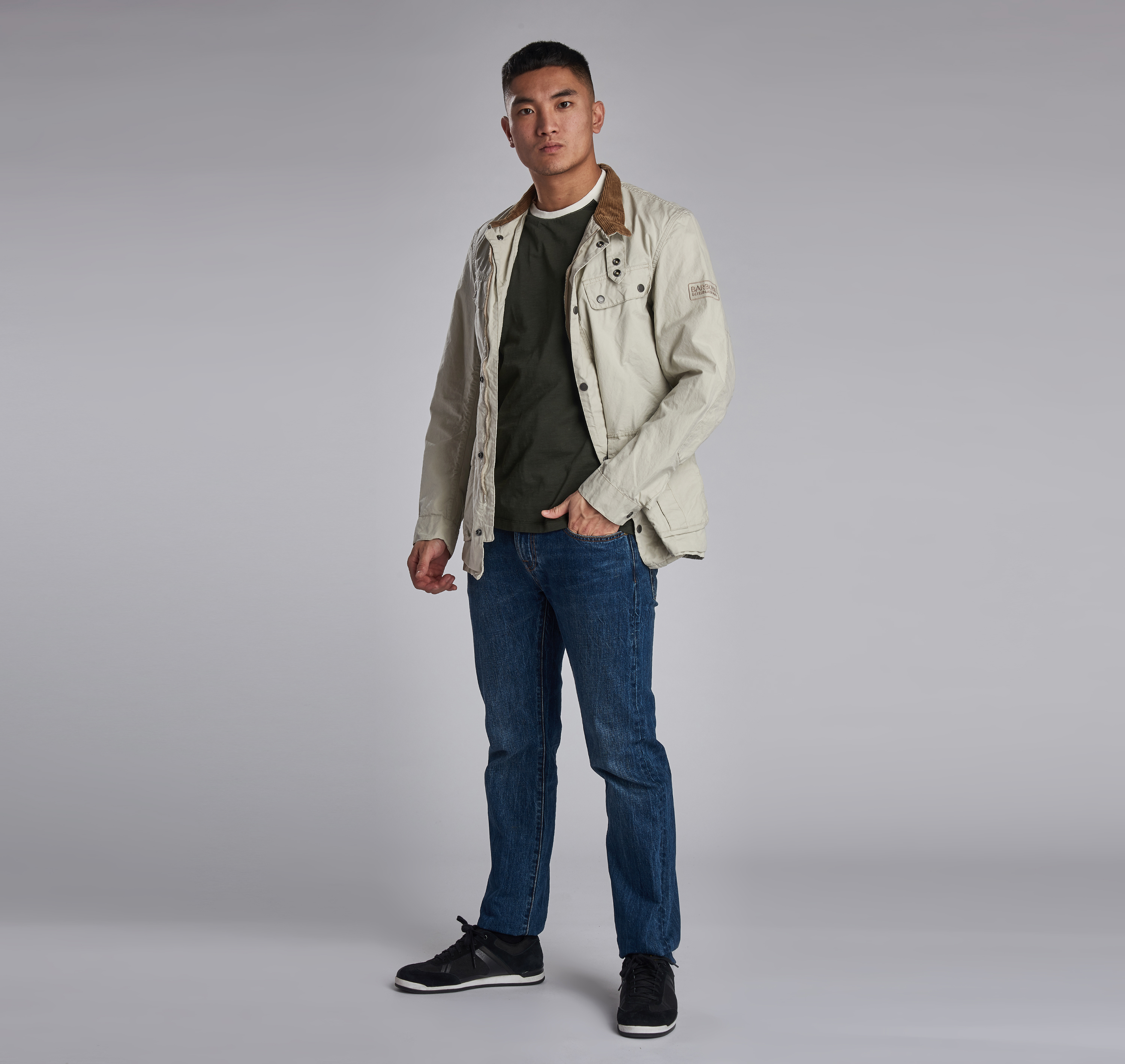 B. Intl. Coloured Duke Casual Jacket Clay