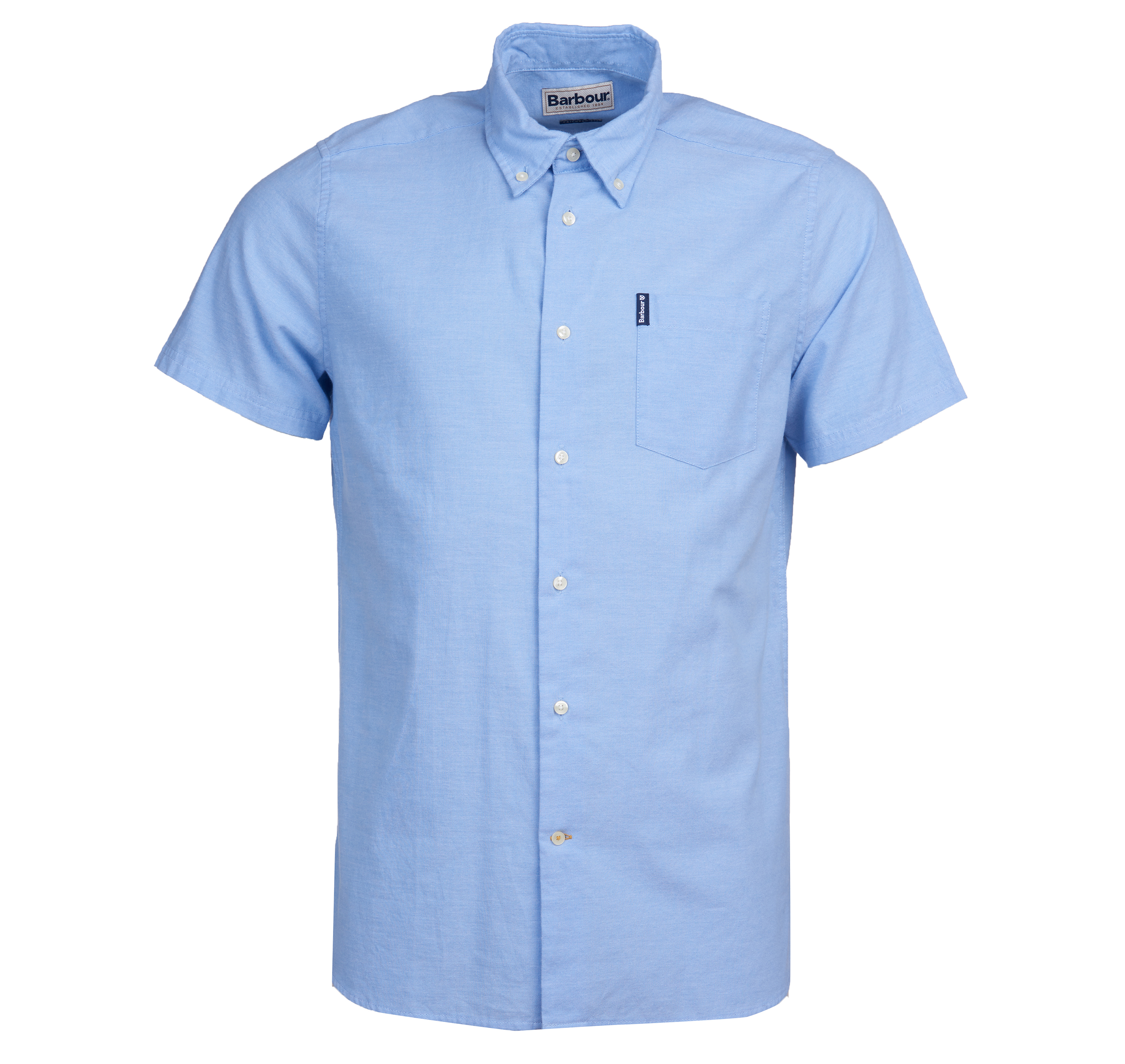 Barbour Oxford 9 Short Sleeved Shirt Blue